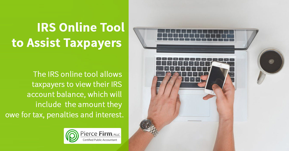 IRS Online Tool to Assist Taxpayers