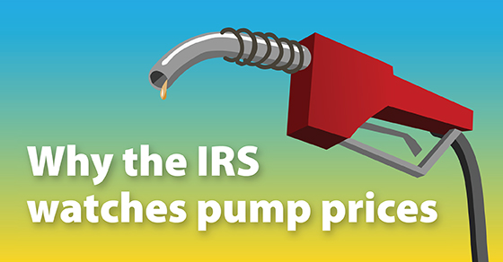 Pump prices and the IRS