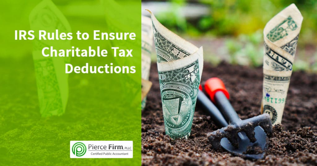Pierce Firm charitable tax deduction rules
